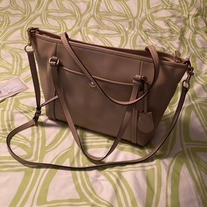 New leather Authentic Beige Coach Purse